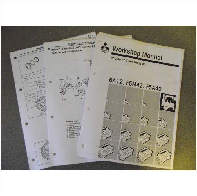 Mitsubishi Engine  Transmission 6A12 F5M42 F5A42 Workshop Manual