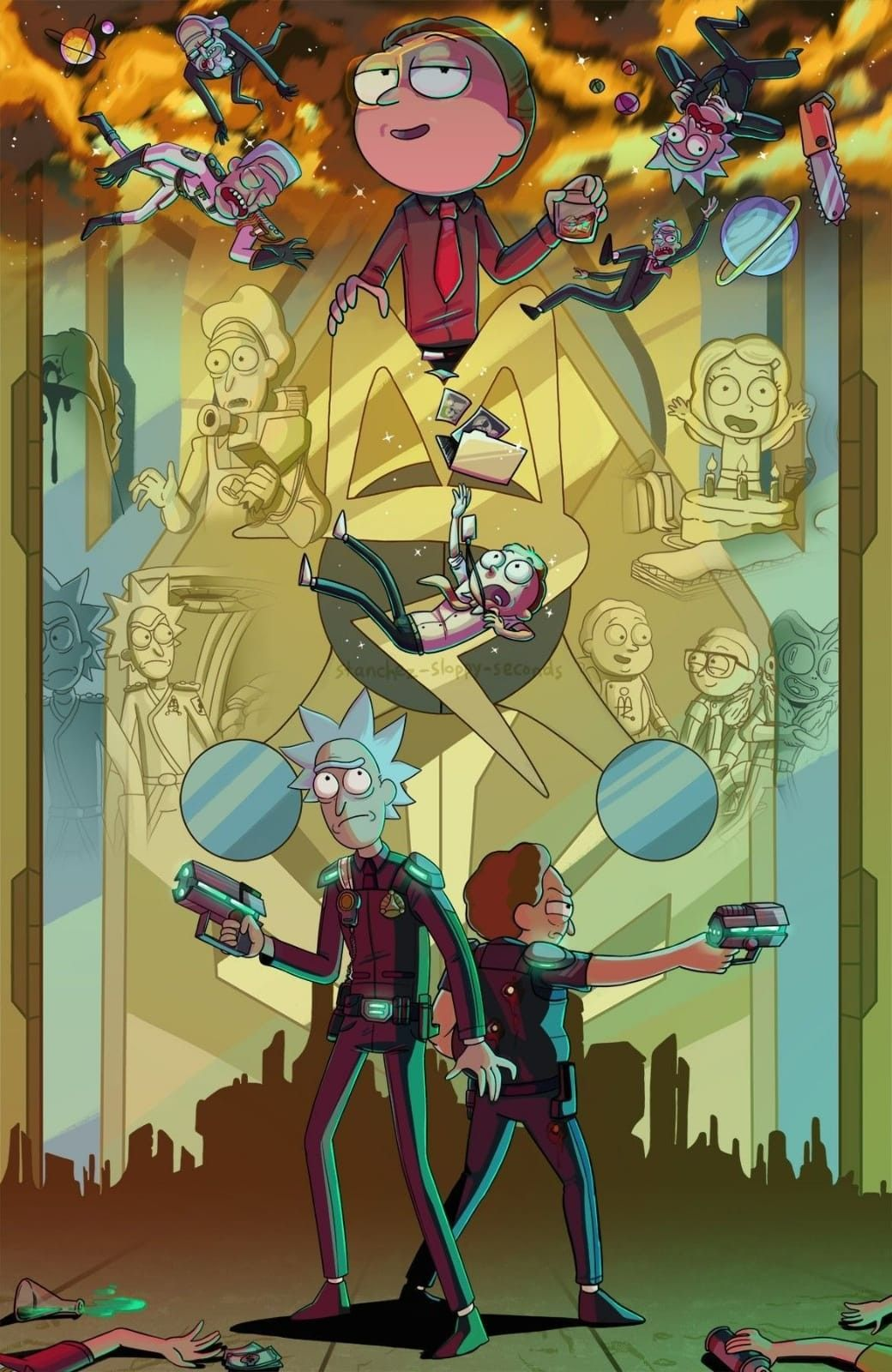 Police In 2020 Rick And Morty Poster Rick And Morty Morty