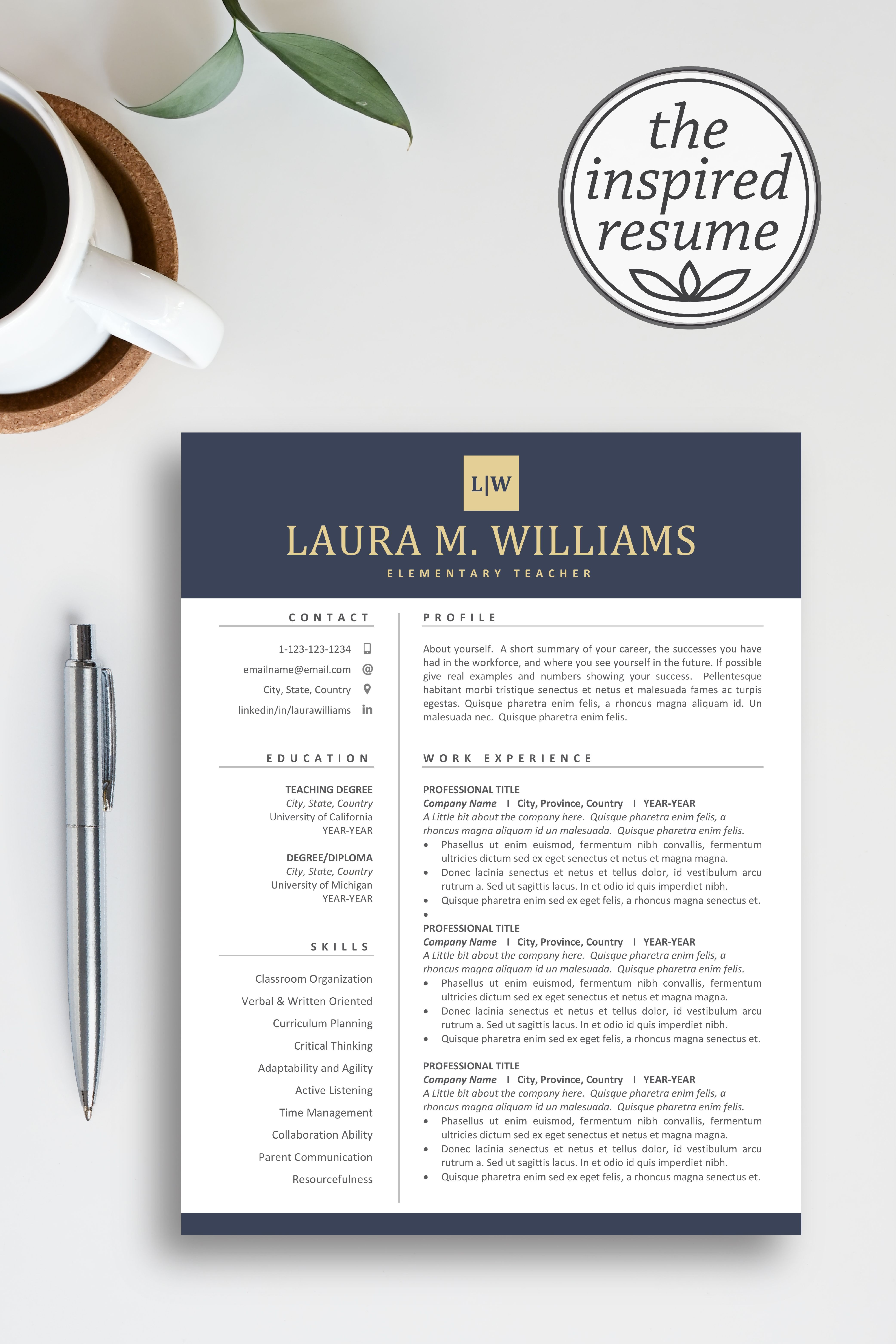 Land your dream job with a standout, professional resume