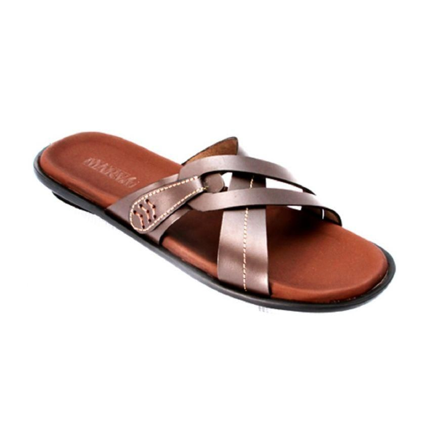 05fc58a73 MarvG Cross Leather Slippers