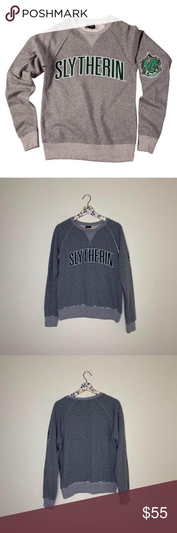 Harry Potter Slytherin House Gray Crewneck Sweater Harry Potter Slytherin House Gray Crewneck Sweater Size Sma Grey Crewneck Crew Neck Sweater Sweatshirt Tops [ 1740 x 580 Pixel ]