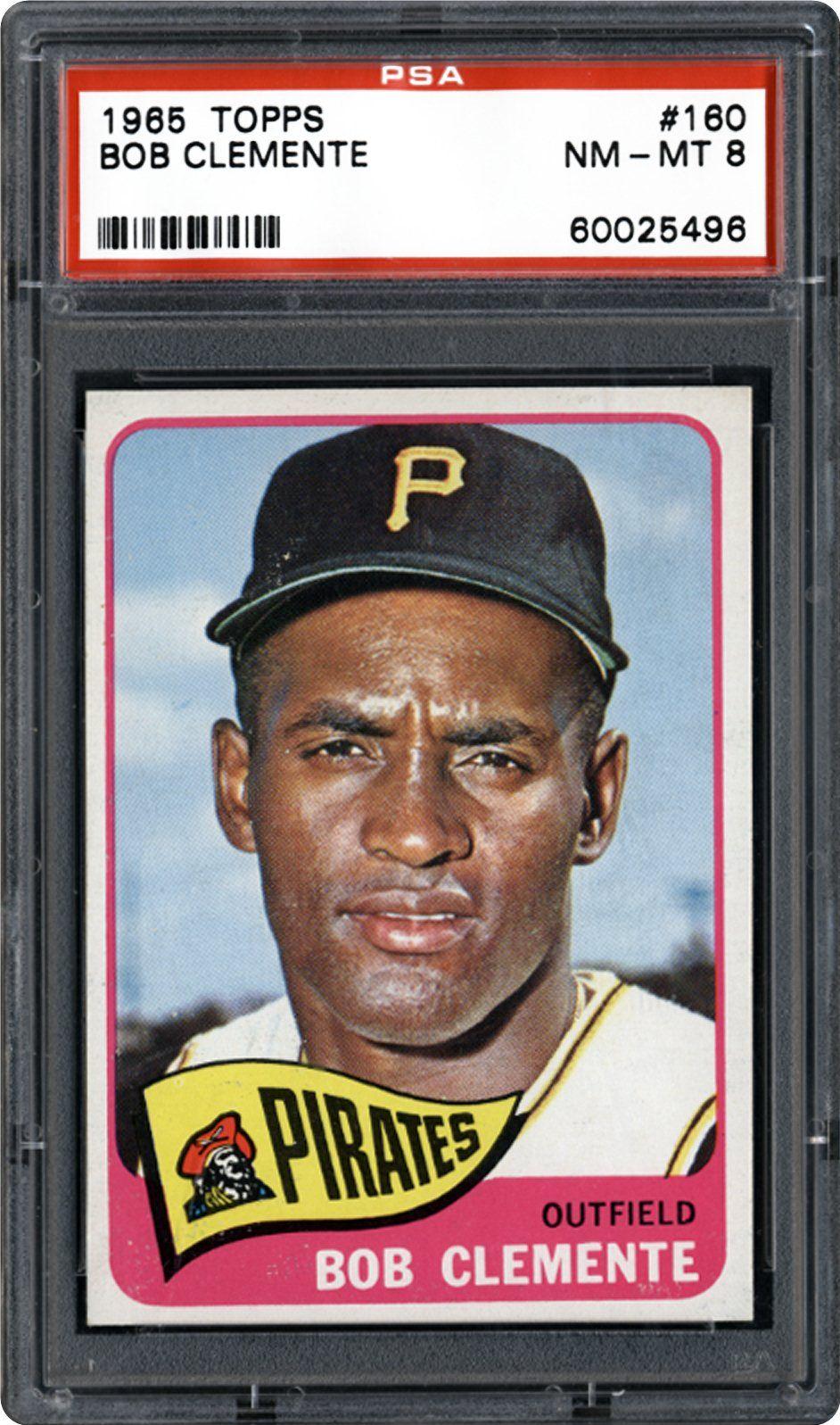 1965 topps 160 bob clemente baseball cards baseball