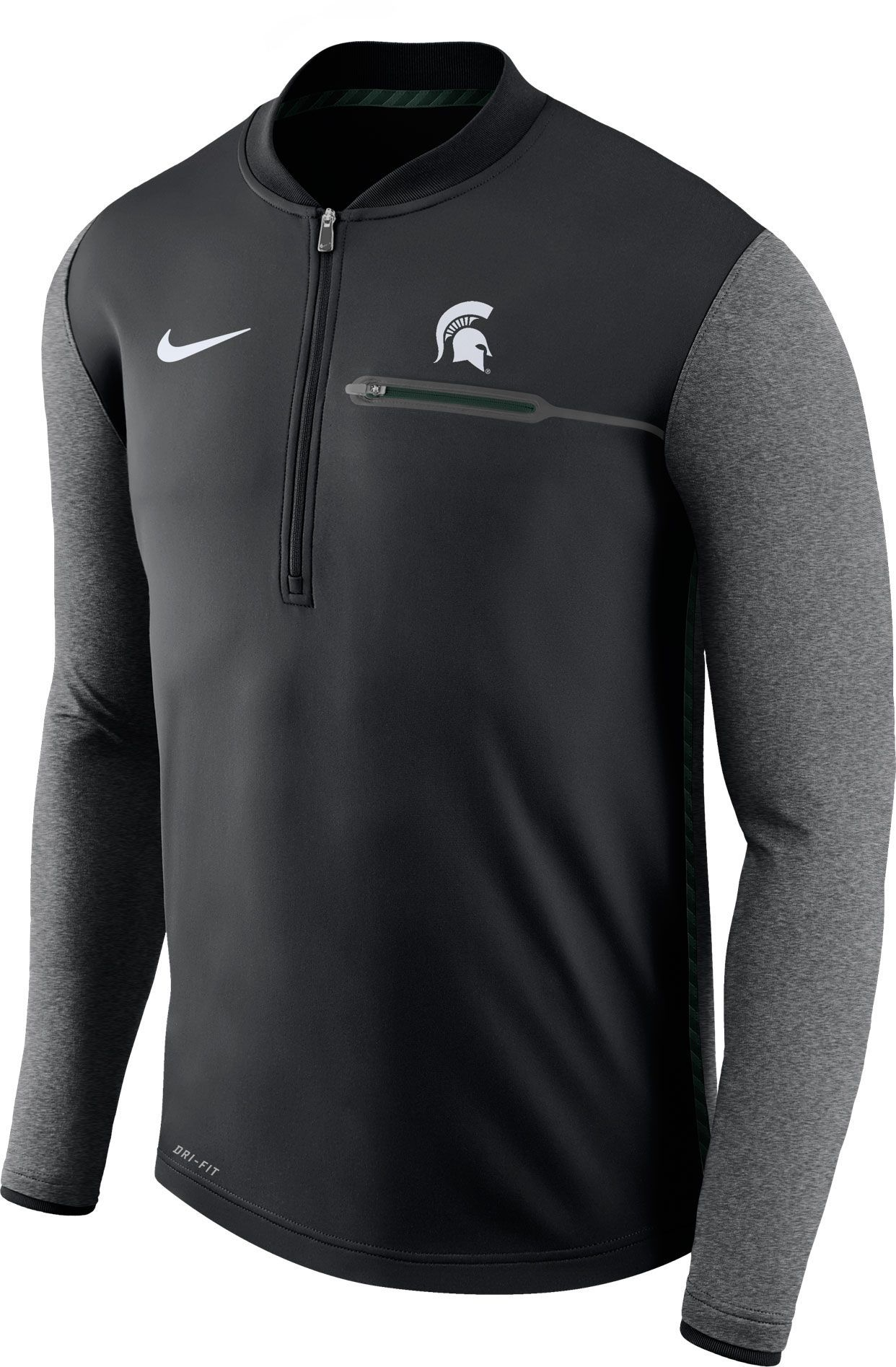 outlet store 1cc91 c499d Nike Men's Michigan State Spartans Coach Black Half-Zip ...