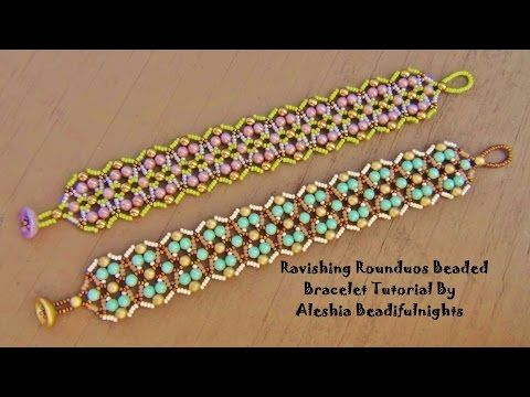 Ravishing Rounduos Beaded Bracelet Tutorial - YouTube