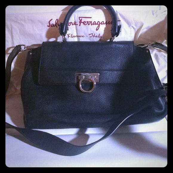 6044b0493b2 Salvatore Ferragamo Sofia Bag - black 100% authentic. Includes shoulder  strap and dust bag. Very gently used. Ferragamo Bags Satchels