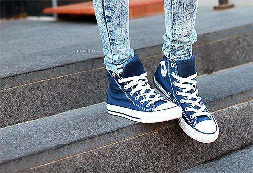 Blue converse, Converse, Fashion shoes