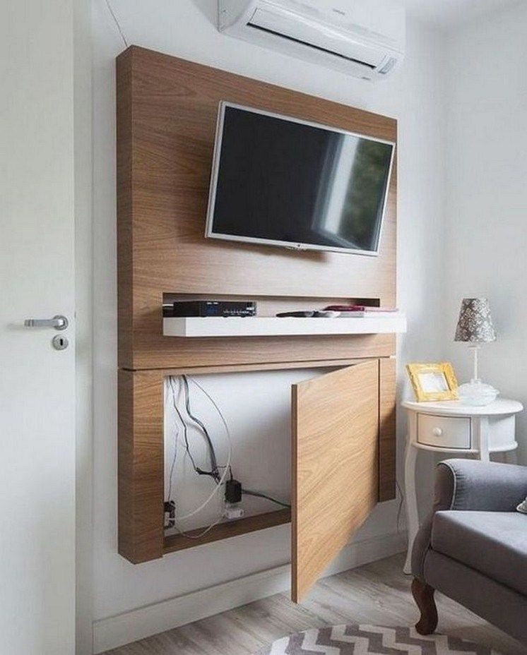 46 Hidden Storage Ideas For Small Spaces 34 Mounted Tv Decor Tv
