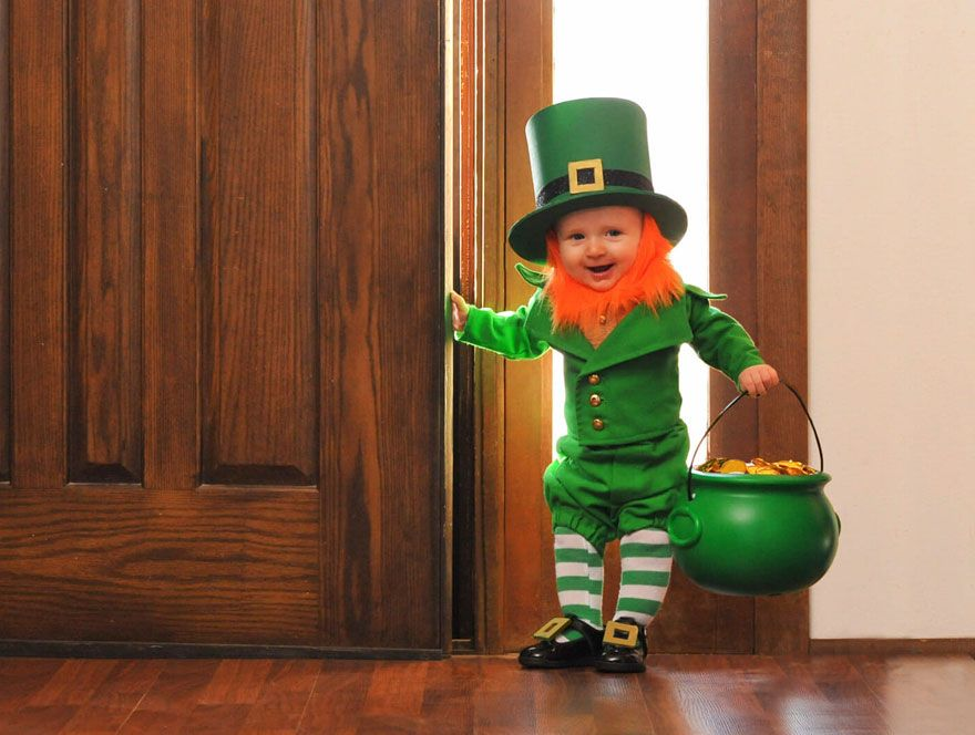 Dad Turns His MonthOld Baby Into A Naughty Leprechaun For St - Dad turns his 6 month old son into real life leprechaun for st patricks day