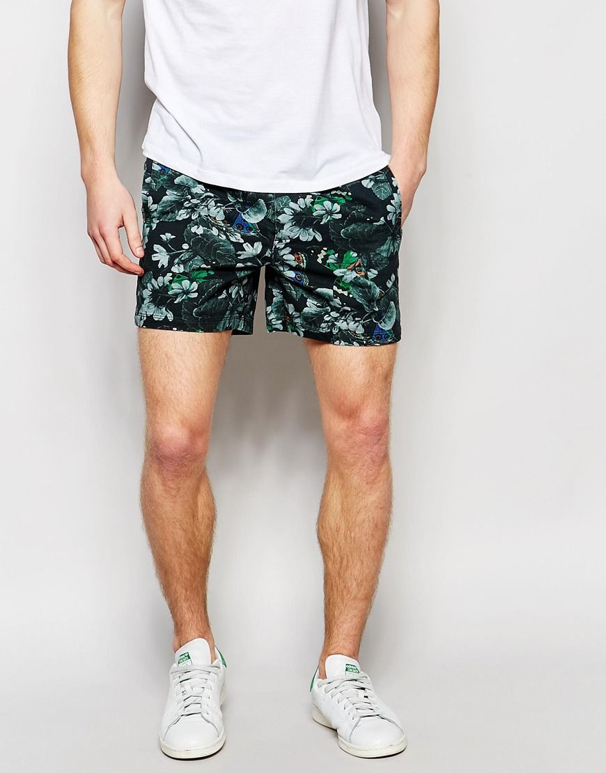 Shop ASOS Shorts With All Over Printing With Elasticated Waist at ASOS.
