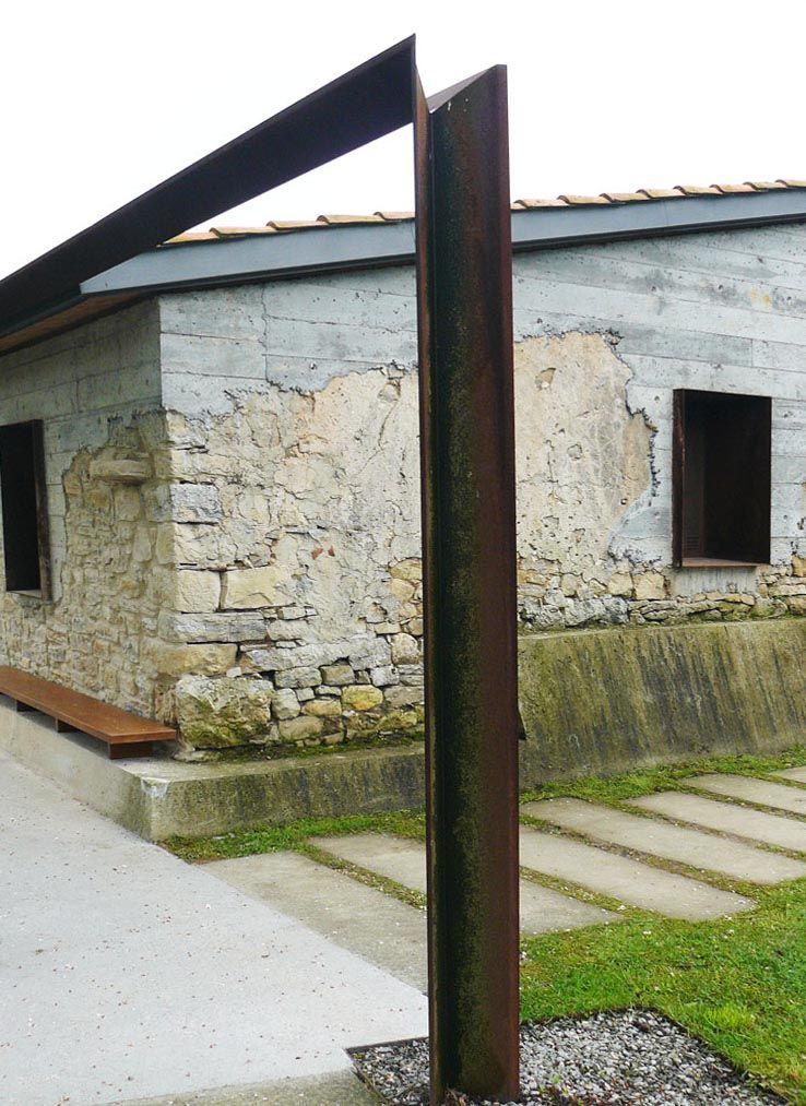 estructura en acero cortu00e9n. www.tallereslobon.com