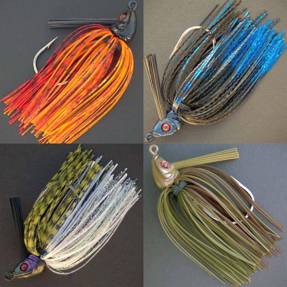 Details about bassdozer alabama swim jigs 1 2 oz bass for Bass fishing jigs