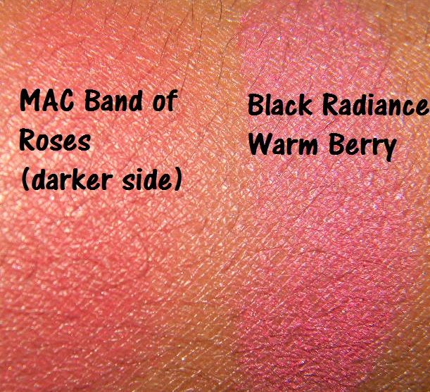 mac band of roses dupe black radiance warm berry