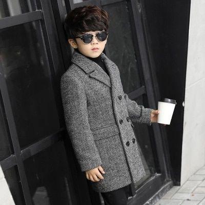 36.81€  Abrigo de lana a cuadros grueso para niños