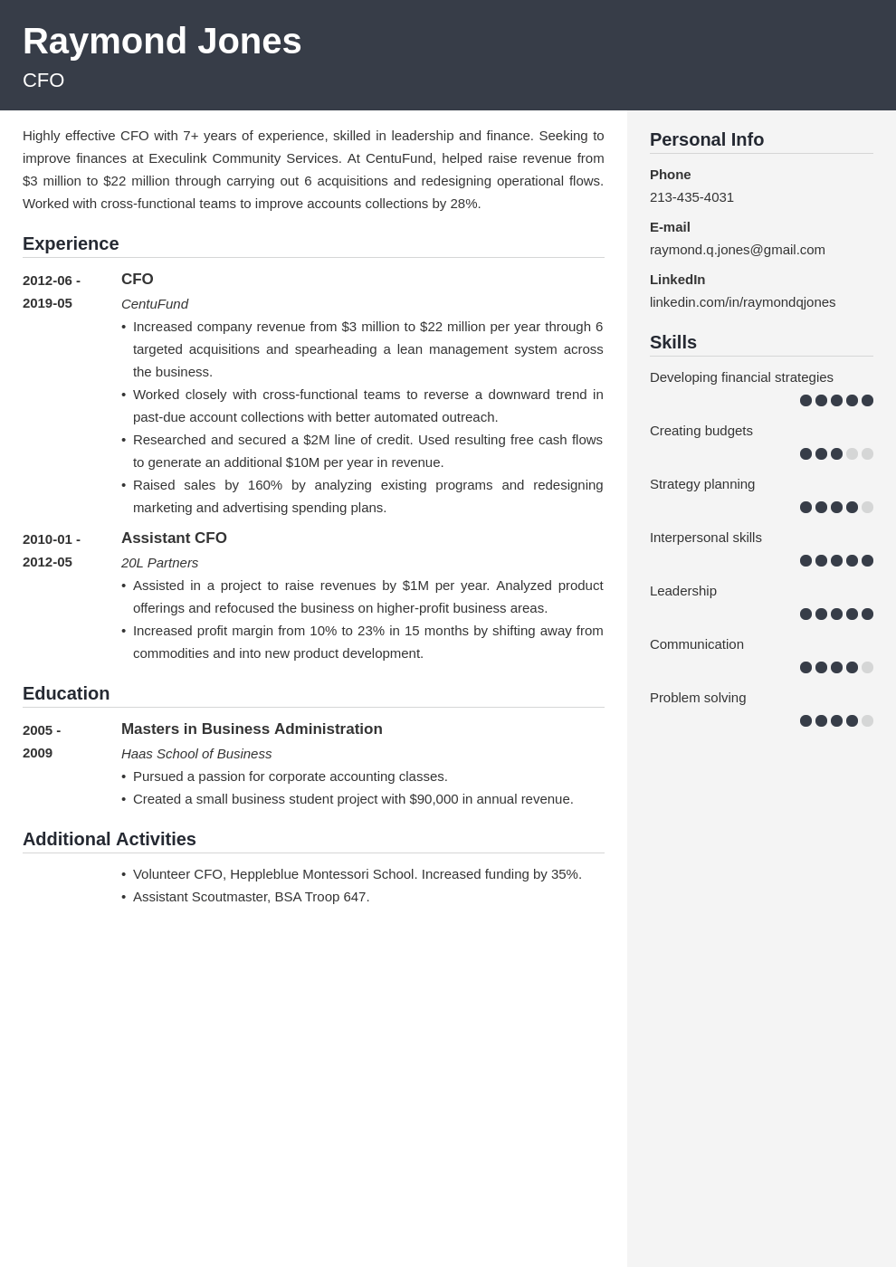 Cfo Resume Example Template Cubic Resume Examples Job Resume Examples Resume