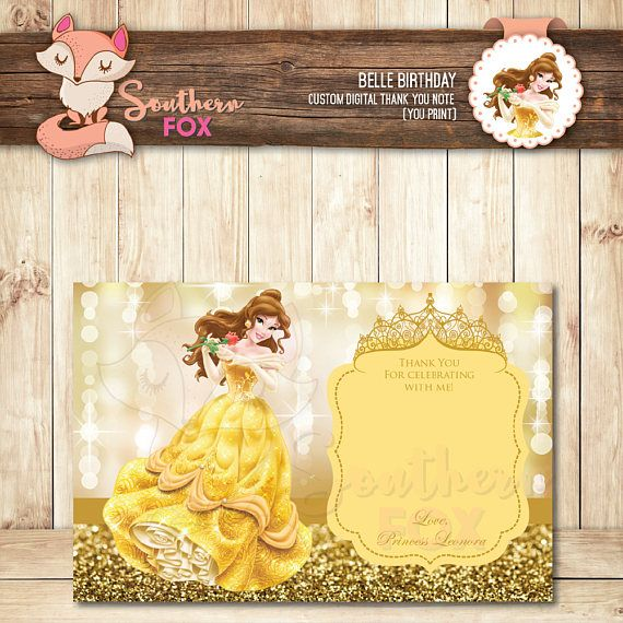 Beauty and the beast disney princess belle birthday invitation beauty and the beast disney princess belle birthday invitation filmwisefo