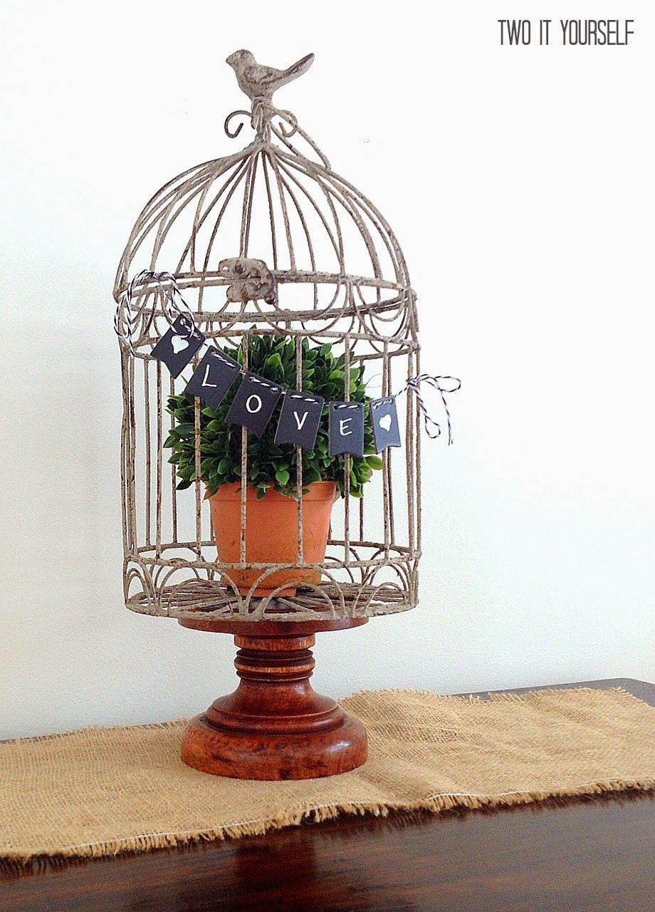 Mini birdcage centerpieces - photo#47