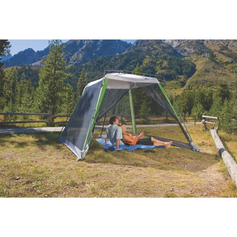 Coleman 10 x 10 Instant Screened Shelter Canopy Tent C&ing Sun Beach Gazebo 76501052503 | eBay  sc 1 st  Pinterest & Coleman 10 x 10 Instant Screened Shelter Canopy Tent Camping Sun ...