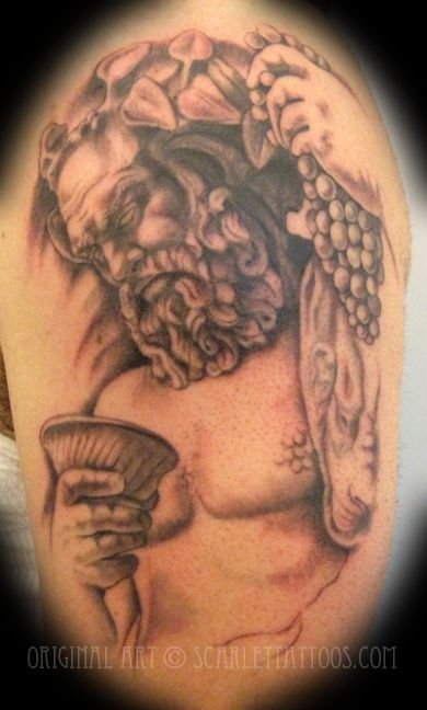 Scarlet Tattoos NYC   dionysus   Tattoos, Statue tattoo ...