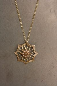 Adelphe London | Gold and pearl snowflake