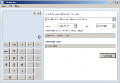 Dating calculator