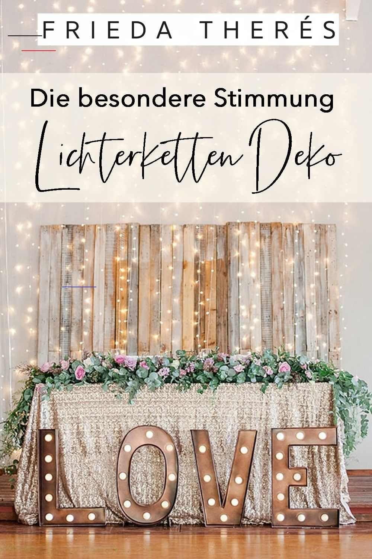 Lichterketten Deko für die Hochzeit dekorationhochzeit