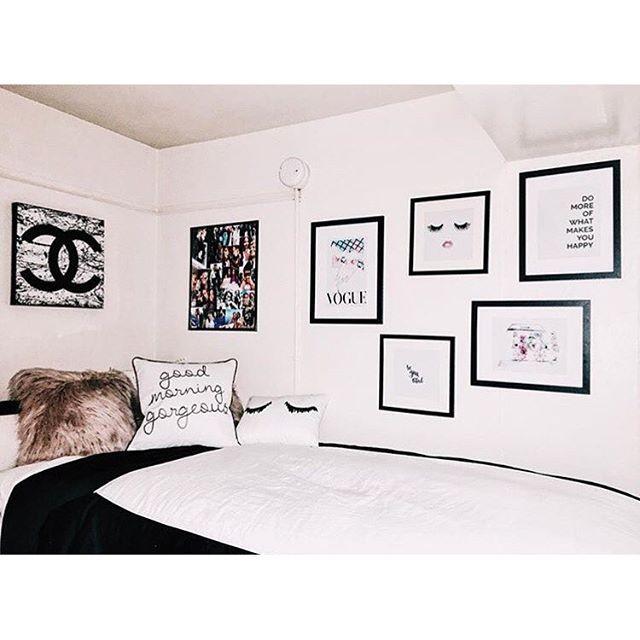 black and white done right   dormify.com   DORM TOURS   Pinterest ...