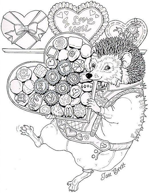 Hedgies Valentine For You Free Hedgehog And Chocolates