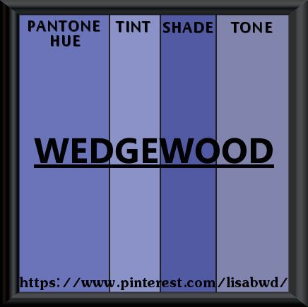 Pantone Seasonal Color Swatch Wedgewood Blue Purple Lavender