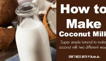 How to make coconut oil from fresh milk