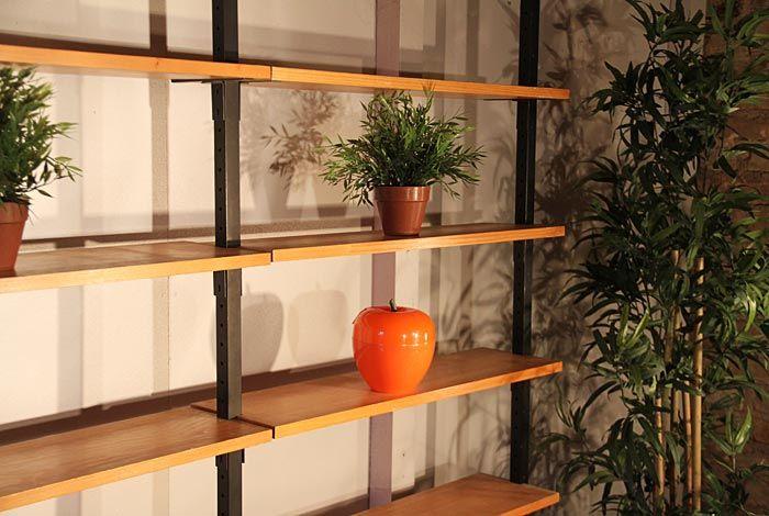 tag re biblioth que r glable en m tal et bois design. Black Bedroom Furniture Sets. Home Design Ideas