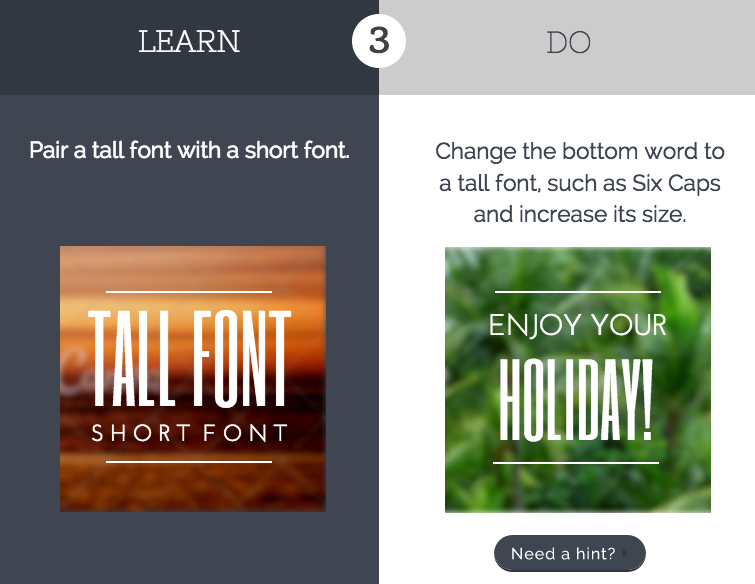 Canva: Pair tall font with short font | Graphic Design | Tall font
