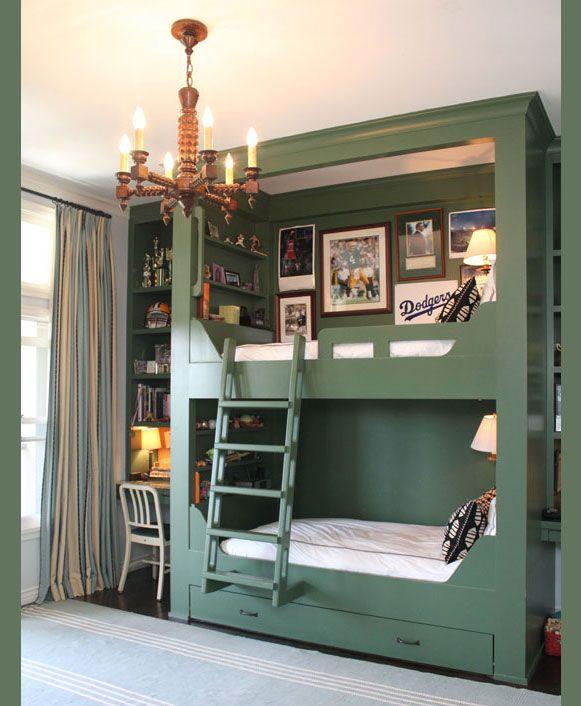 Bunk Beds Built In Desk Too Lake House Pinterest Bedroom