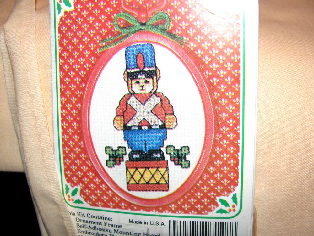 New Berlin Co Christmas Ornament TOY SOLDIER Counted Cross Stitch ...