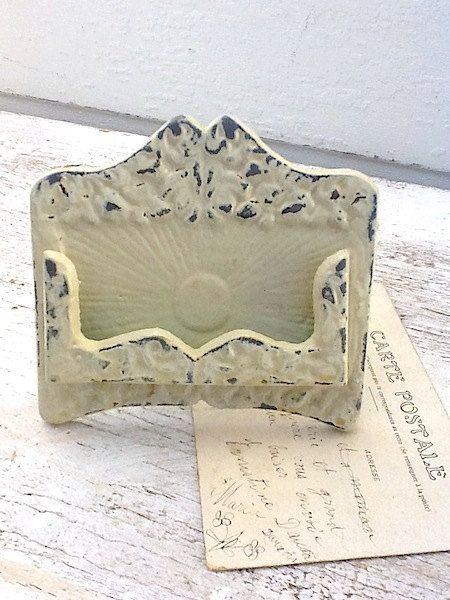 Rustic chic business card holder antique by alacartcreations rustic chic business card holder antique by alacartcreations colourmoves