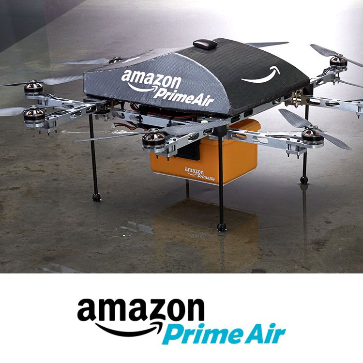 Prime Air is a future delivery system designed to get packages into customers' hands in 30 minutes or less using unmanned aerial vehicles., http://www.amazon.com/b?node=8037720011&ref_=cm_sw_r_pi_airprimeShare