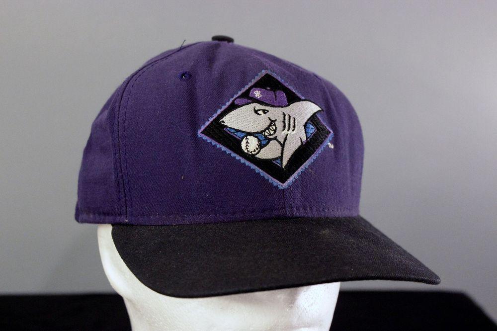 Vtg Honolulu Sharks Baseball Cap Snapback Hat New Era Purple Hawaii Baseball Usa Snapback Hats Hats Baseball Cap