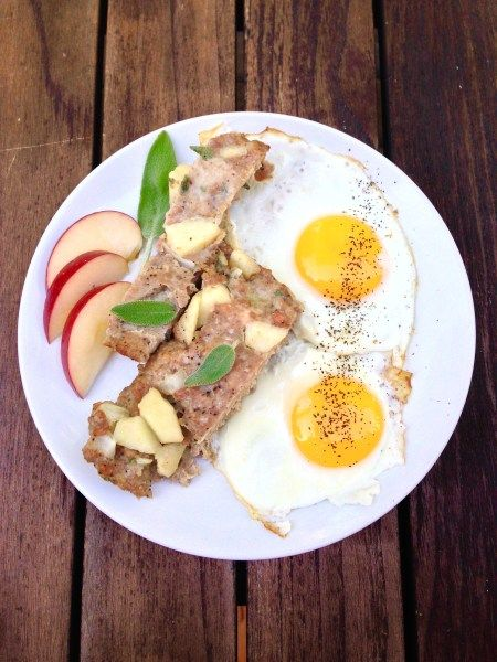 Turkey Apple Sage Sausage and Eggs - Real Food with Dana