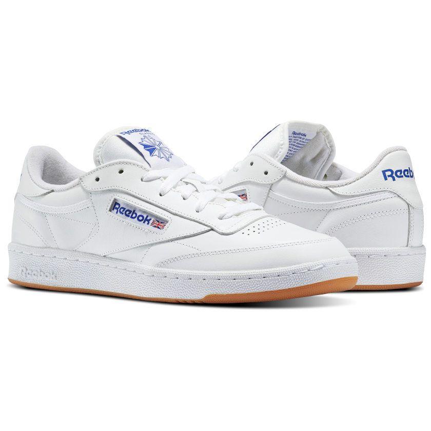 6a3bb2d2d40a9 Reebok Shoes Men s Club C 85 in White Royal Gum Size 9 - Court ...