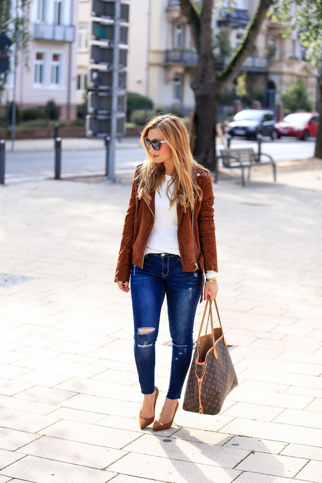 sale retailer e11bc a5f7d Meine braune Must-Have Leder Jacke für diesen Herbst/Winter ...