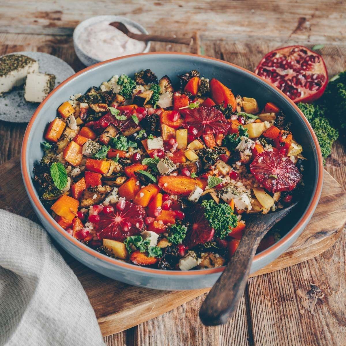 Colorful oven vegetables with bulgur  Freistyle   Rezept ...