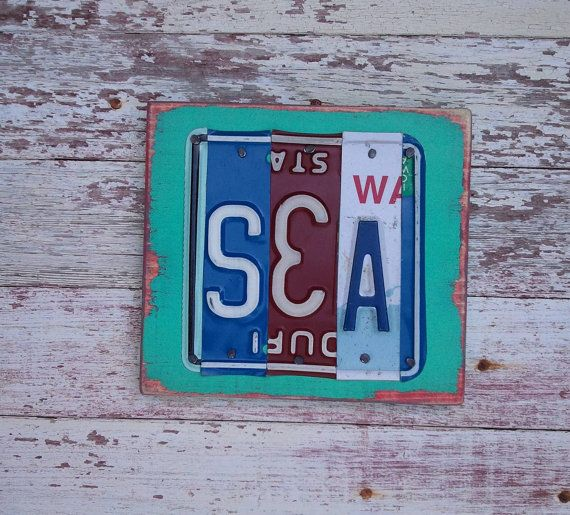Vanity Plate Ideas For Realtors: SEA Beach Customized License Plate Word Block By
