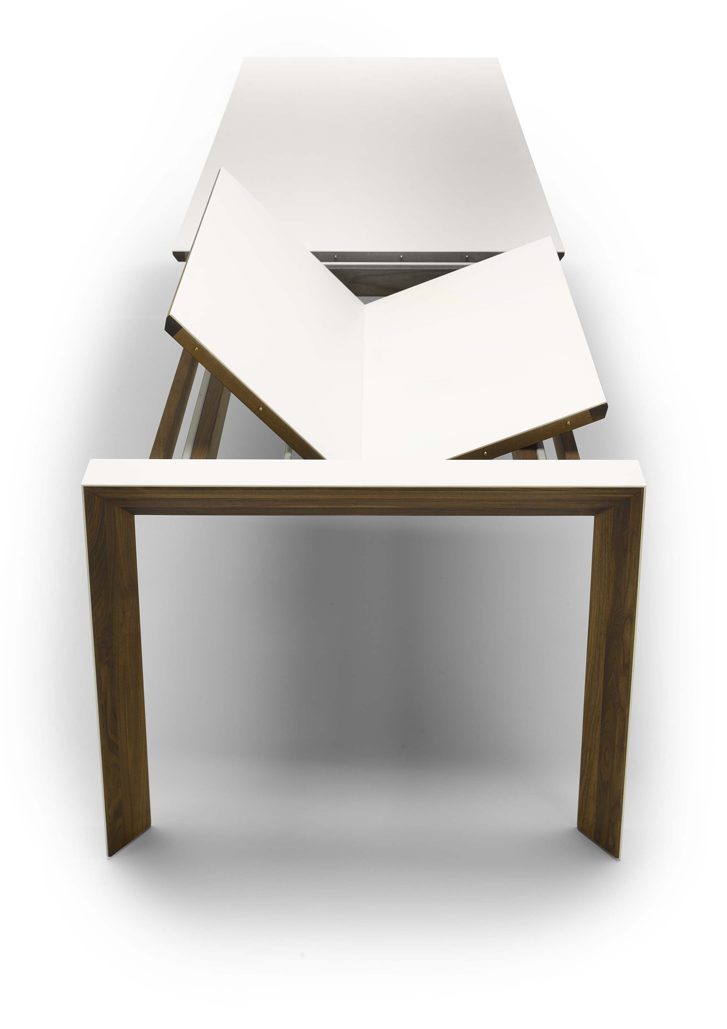 Table A Manger Retractable Corian Walnut Extending Dining Table Sing