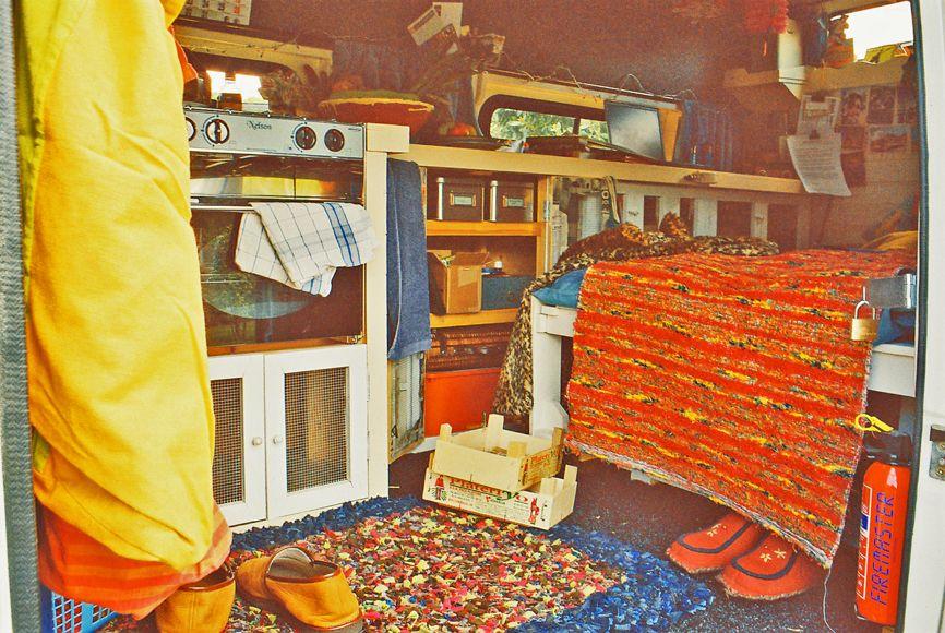 A Simpler Life El Pocito Van Conversion Interior Through Door