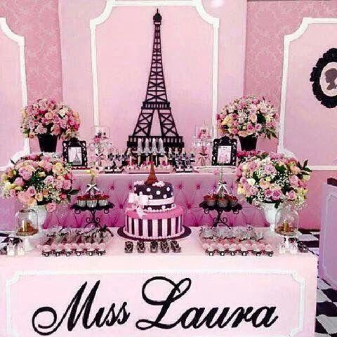 Mesa de postres París | XV años | Pinterest | Sweet fifteen and ...
