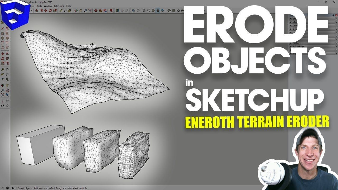 Erode Objects In Sketchup With Eneroth Fractal Terrain Eroder