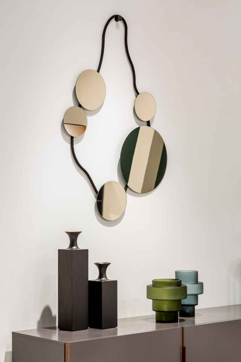 Spiegel Wall Jewellery 01 Von Jutta Werner Vase Aus Holz Tasso