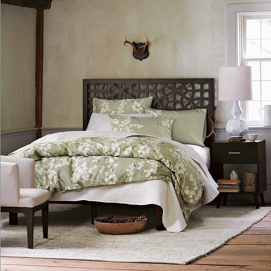 Morocco Headboard Simple Bed Frame Queen Chocolate At West Elm
