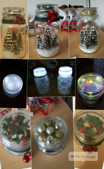 Douwe Egberts Coffee Jars Are As Good If Not Better Than Mason Jars And You And Decorate The Lids Had Great Fun Coffee Jar Crafts Coffee Jars Christmas Jars