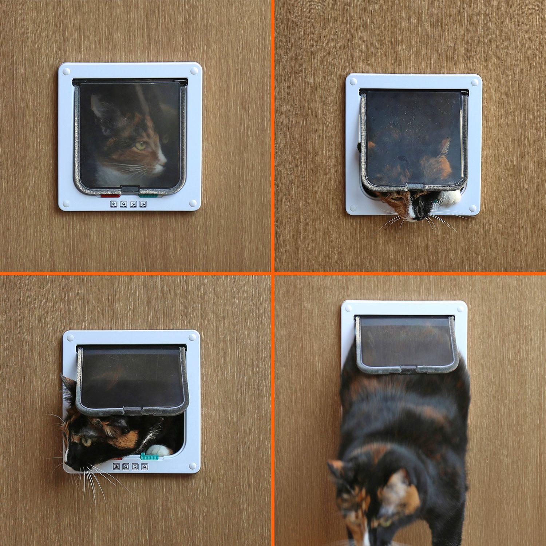 PetsN'all 4-Way Locking Indoor/Outdoor Pet Door Kit with Tel…
