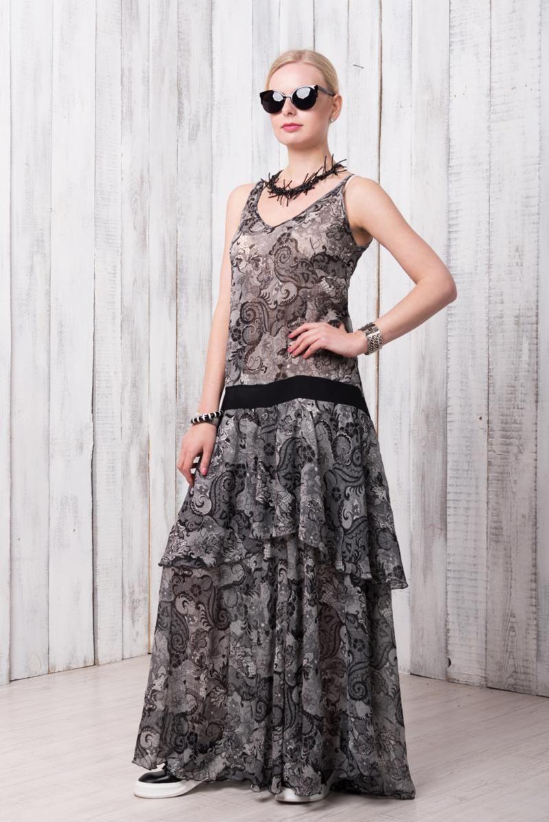 Длинное серое платье от Sklifos 1875 грн = 4 891,73 рублей